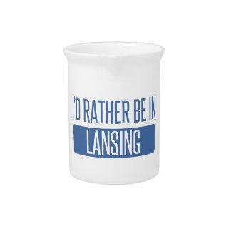 I'd rather be in Lansing Beverage Pitcher