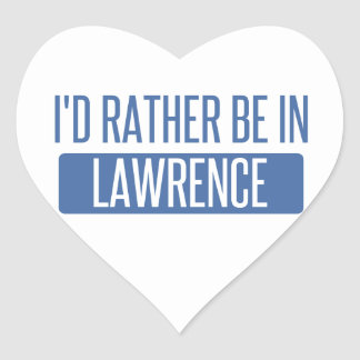 I'd rather be in Lawrence KS Heart Sticker