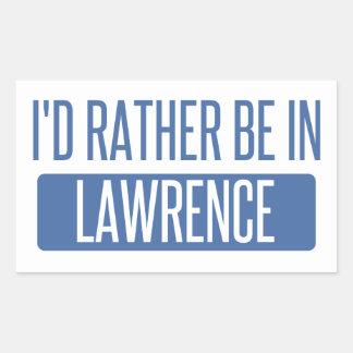 I'd rather be in Lawrence KS Rectangular Sticker