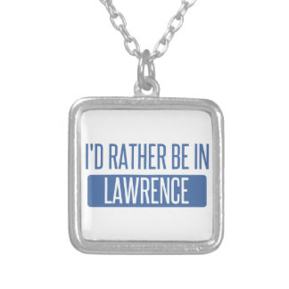 I'd rather be in Lawrence KS Silver Plated Necklace