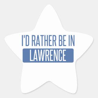 I'd rather be in Lawrence KS Star Sticker