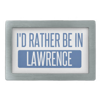 I'd rather be in Lawrence MA Rectangular Belt Buckles
