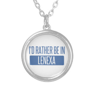 I'd rather be in Lenexa Silver Plated Necklace