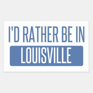I'd rather be in Louisville Rectangular Sticker