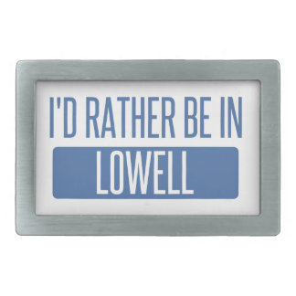 I'd rather be in Lowell Rectangular Belt Buckles