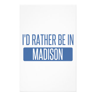 I'd rather be in Madison AL Stationery
