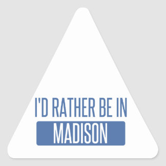 I'd rather be in Madison WI Triangle Sticker