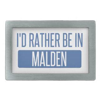 I'd rather be in Malden Belt Buckles