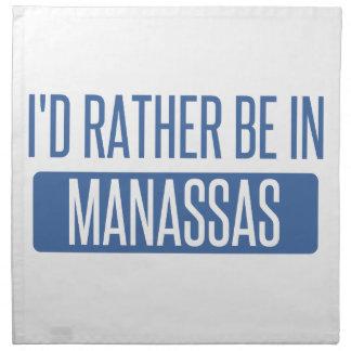 I'd rather be in Manassas Napkin