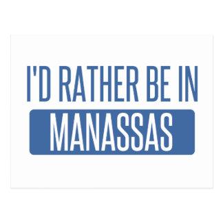 I'd rather be in Manassas Postcard