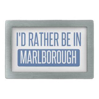I'd rather be in Marlborough Rectangular Belt Buckle