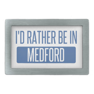 I'd rather be in Medford MA Belt Buckle