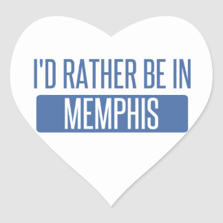 I'd rather be in Memphis Heart Sticker