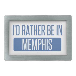 I'd rather be in Memphis Rectangular Belt Buckles