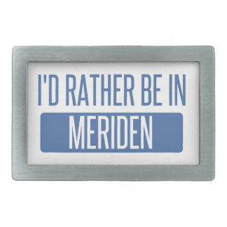 I'd rather be in Meriden Rectangular Belt Buckles