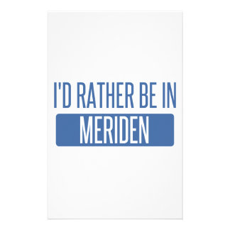 I'd rather be in Meriden Stationery
