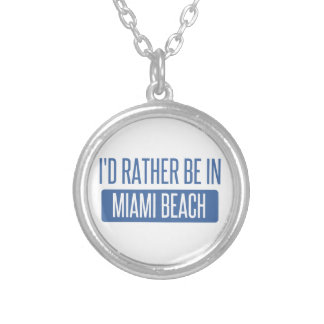 I'd rather be in Miami Beach Silver Plated Necklace