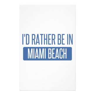 I'd rather be in Miami Beach Stationery