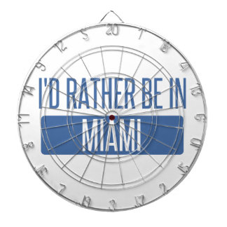 I'd rather be in Miami Dartboard