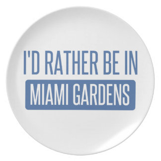 I'd rather be in Miami Gardens Plate