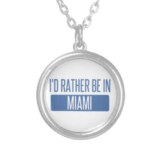 I'd rather be in Miami Silver Plated Necklace