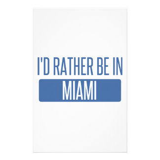 I'd rather be in Miami Stationery