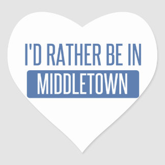 I'd rather be in Middletown CT Heart Sticker