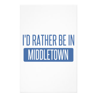 I'd rather be in Middletown CT Personalised Stationery