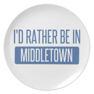I'd rather be in Middletown CT Plate