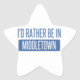 I'd rather be in Middletown CT Star Sticker