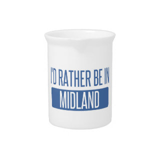 I'd rather be in Midland MI Beverage Pitcher