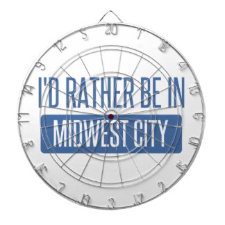 I'd rather be in Midwest City Dartboard With Darts