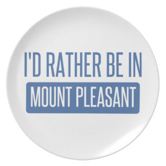 I'd rather be in Mount Pleasant Plate