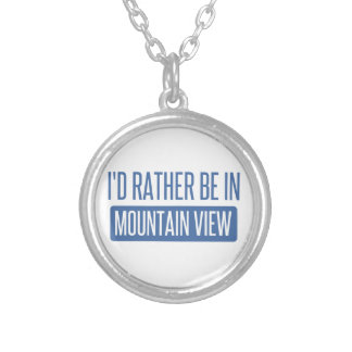 I'd rather be in Mountain View Silver Plated Necklace