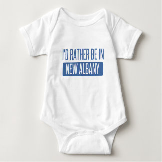 I'd rather be in New Albany Baby Bodysuit