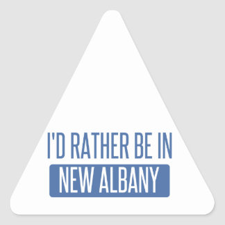 I'd rather be in New Albany Triangle Sticker