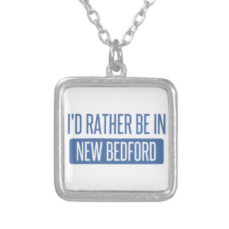 I'd rather be in New Bedford Silver Plated Necklace