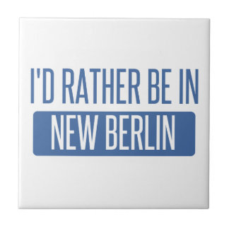 I'd rather be in New Berlin Small Square Tile