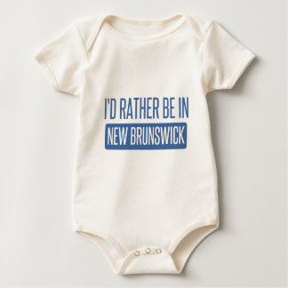I'd rather be in New Brunswick Baby Bodysuit