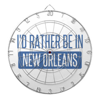 I'd rather be in New Orleans Dartboard