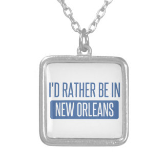 I'd rather be in New Orleans Silver Plated Necklace