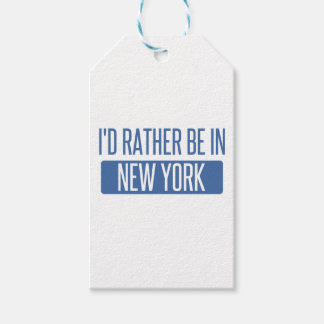 I'd rather be in New York Gift Tags
