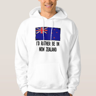 I'd Rather Be In New Zealand Hoodie