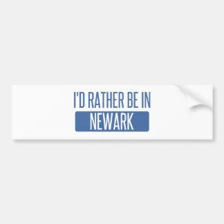 I'd rather be in Newark CA Bumper Sticker