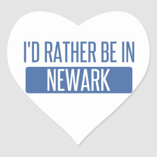 I'd rather be in Newark CA Heart Sticker
