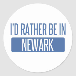 I'd rather be in Newark NJ Classic Round Sticker