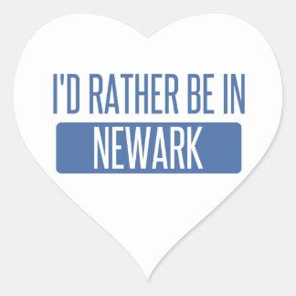 I'd rather be in Newark NJ Heart Sticker