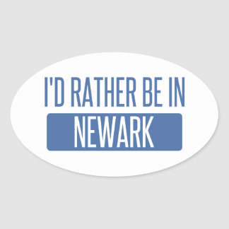 I'd rather be in Newark NJ Oval Sticker