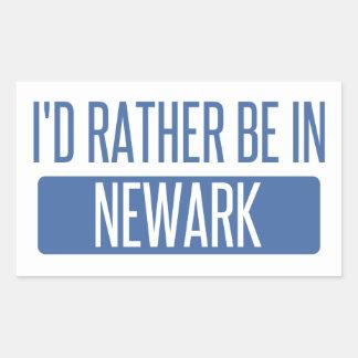 I'd rather be in Newark NJ Rectangular Sticker