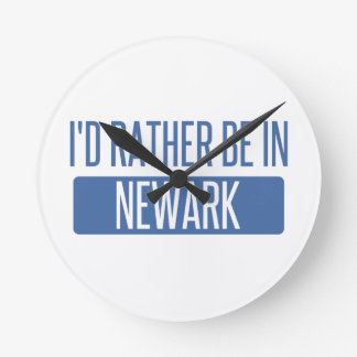 I'd rather be in Newark NJ Round Clock